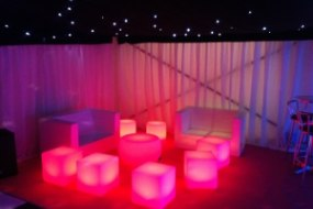 Enhance your party marquee with a range of LED furniture