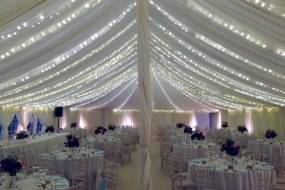 pea light canopy to enhance your event marquee