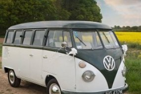 Vintage Car and Camper Hire Split Screen Wedding transport and photo booth.