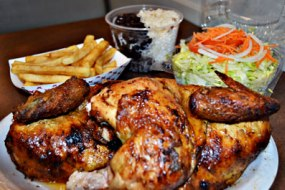 FEAST with Dine anywhere on our finger licking chicken.