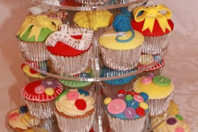 Sewing Themed Vanilla Cupcakes
