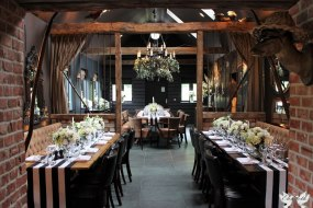 Rustic meets Contemporary with Black and White Stripe Table Runners- Elizabeth Weddings