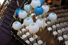 Hanging Paper Lantern display- Elizabeth Weddings