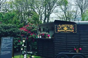 Horse box gin tin Juniper1937 - mobile bar hire