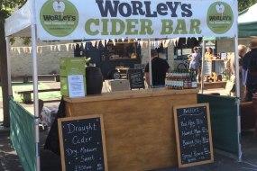 Worley's Cider Bar, Somerset Cider, Event Bars
