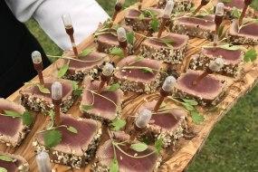 tuna canapés