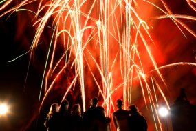 Professional wedding firework displays.