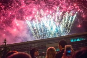 Imperial College summer ball roof top fireworks,