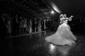 Bride and groom's first dance - Hampshire marquee wedding