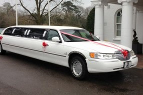 White Stretched Limousine (8 Passengers)