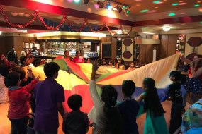 Parachute games and disco lights