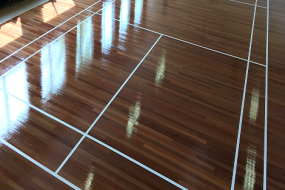 Sports Hall (Cleaned after a party)