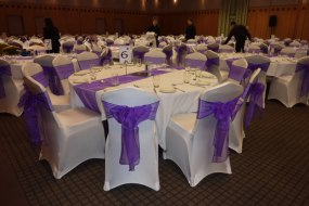 Chair covers with sashes