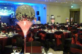 mirror ball centrepieces