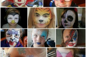 Some of our Facepainters Work to book contact us today.