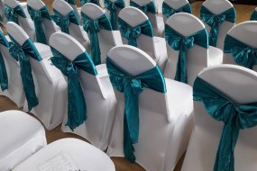 Satin silk sash bows