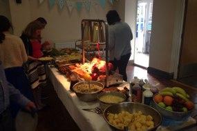 Hot carvery buffet