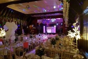 Our white wedding set up