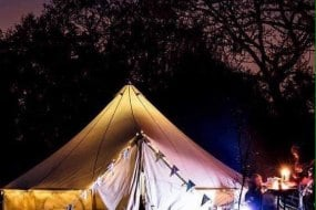 Bell Tent at night.