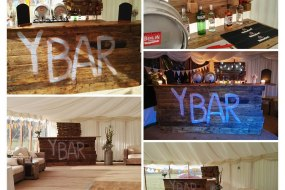 Our pop up Recycled Pallet Bar is perfect for indoor events, marquees, Tipi's, Community Hall or unlicensed premises