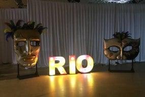 Variety of light up letters & mascarade masks