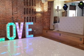 wedding set up Chesterfield booth