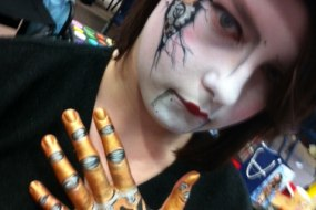 Steam Punk Face and Body Paint