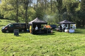 Setup in the valley at a Bluebell walk event