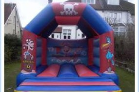 Pirate Bouncy castle - great addition to a pirate-themed party!