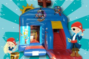 Pirate Bouncy Castle and Slide Combo Boston