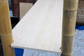 Bamboo Stand Construction - Bamboo Worktops