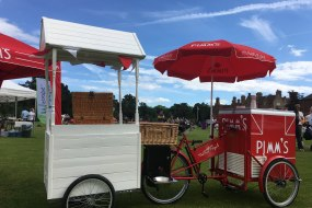 Pimms cart, Summer party, corporate entertainment,wedding photo booth, best ice cream bike cart in Kent Surrey Sussex,