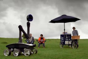 ice cream van bike cart for television, hire, professional business