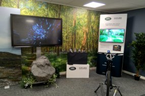 A Bespoke 360 Degree Video and AR Wall Created for Land Rover