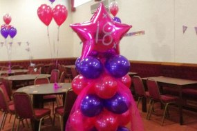 balloon cluster for 18th birthday