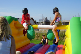 Pole Joust Bouncy Inflatables Games hire in Cumbria