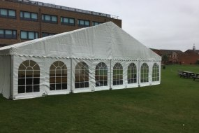 12m x 12m curved roof marquee for a private school in London
