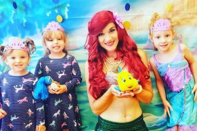 The Little Mermaid at Duck in Boots Mermaid Crafts Event