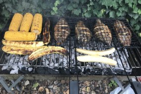 BBQ FISH & GRILLED CORN/PLANTAIN