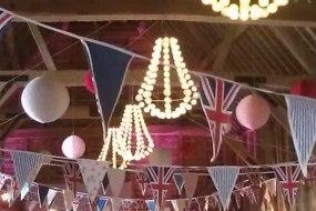 party lighting, wedding decoration, festoon lighting hire