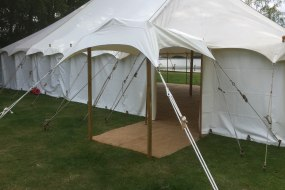 Traditional  canvas pole tent wedding marquee hire