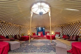 A sumptuously dressed 6.6m yurt