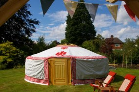 Yurt in the summer sun