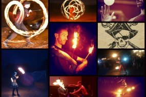 Captain Jackdaw and the Rumbucket Fire show Collage