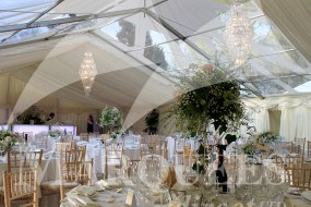 Clear PVC Cone with Ivory Linings and Furniture