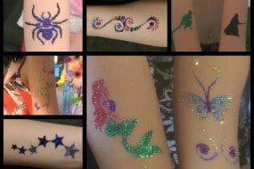 glitter tattoos, by Chase the stars