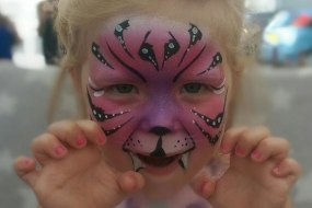 tiger face painting, by Chase the stars