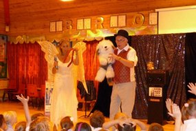 Tony and Tinkerbell magic show