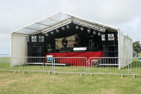 Outdoor covered stage hire