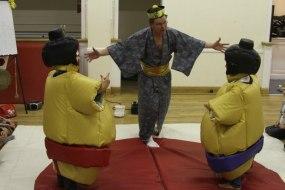 a children's indoor sumo party